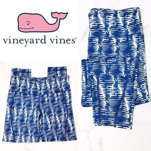Vineyard Vines Blue and White Stripe Leggings